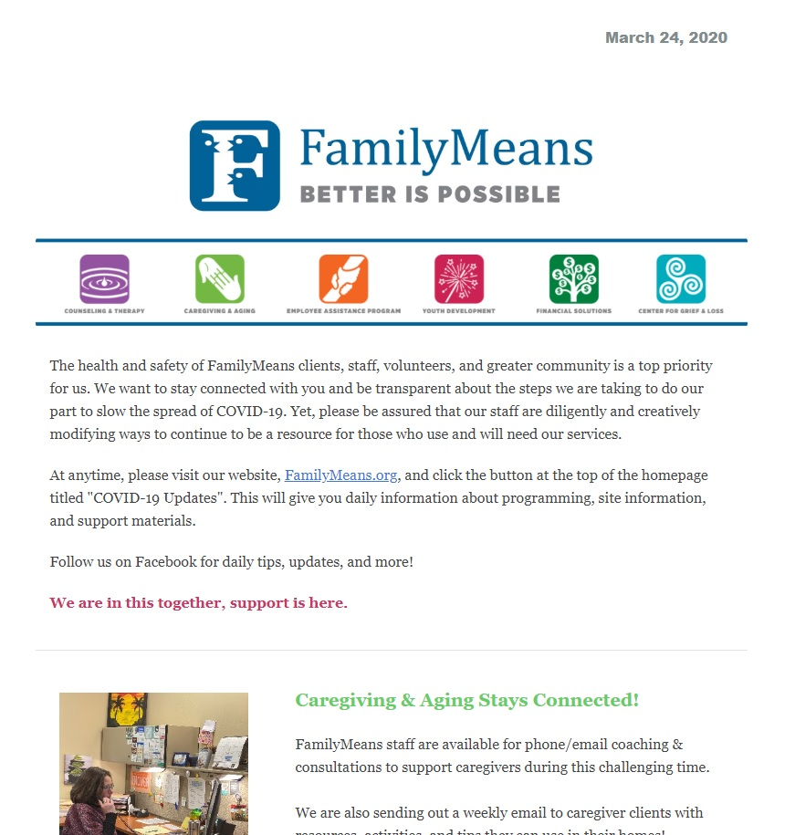 FamilyMeans Programs During COVID-19